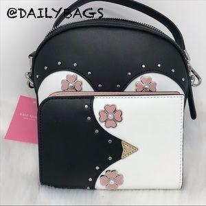 kate spade Bags - KATE SPADE PENGUIN CROSSBODY BLACK FROSTY PASSPORT